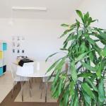 Kontorets areal er 87 m2